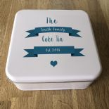 Shabby Personalised chic FAMILY / FRIEND Cake Biscuit Tin gift ANY NAME ~ BAKER - 253889363254
